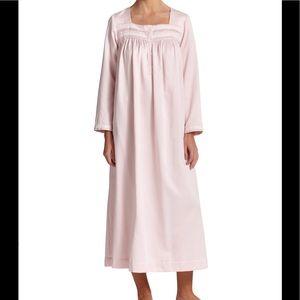 Oscar de la renta sleepwear cotton satin long gown